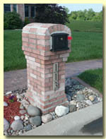 Image of a Brick Mailbox from High Heat Masonry in Troy IL