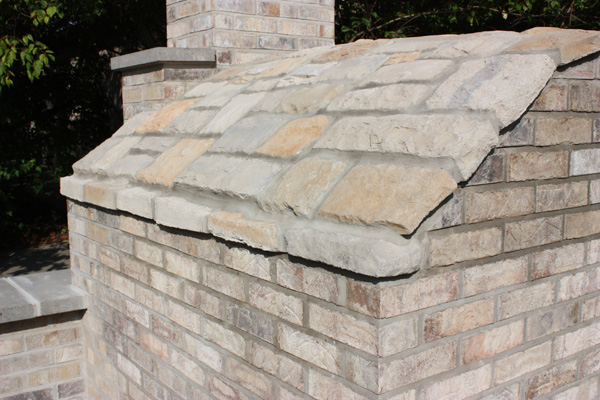 Back Side View of Completed Brick Oven Constructed by Kevin Limper Owner of High Heat Masonry in Troy, IL – Illinois