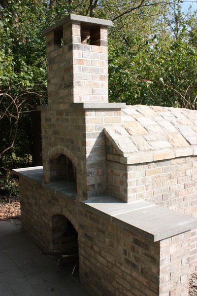 Completed Brick Oven Constructed by Kevin Limper Owner of High Heat Masonry in Troy, IL - Illinois