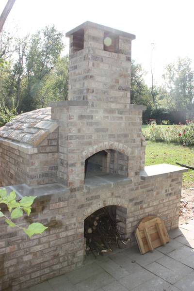 Dual Level Brick Oven Created by High Heat Masonry in Troy IL